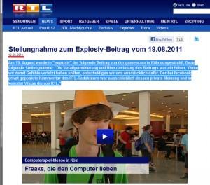 Stellungnahme RTL - rote Hervorhebung von mir