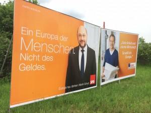 Wahlplakate in Duisburg