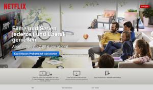 Netzlix Startseite