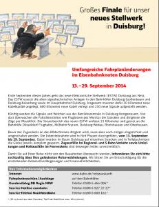 Baustellenplakat der DB in den Bahnhöfen, Quelle: http://bauarbeiten.bahn.de/docs/nrw/infos/BA_Duisburg_13-29092014.pdf