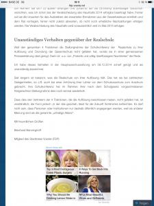 Screenshot der FDP-Voerde-Website, erstellt mit meinem iPad am 16.12.2014