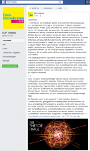 Screenshot der FDP-Facebookseite am 28.02.2017 um 12:00