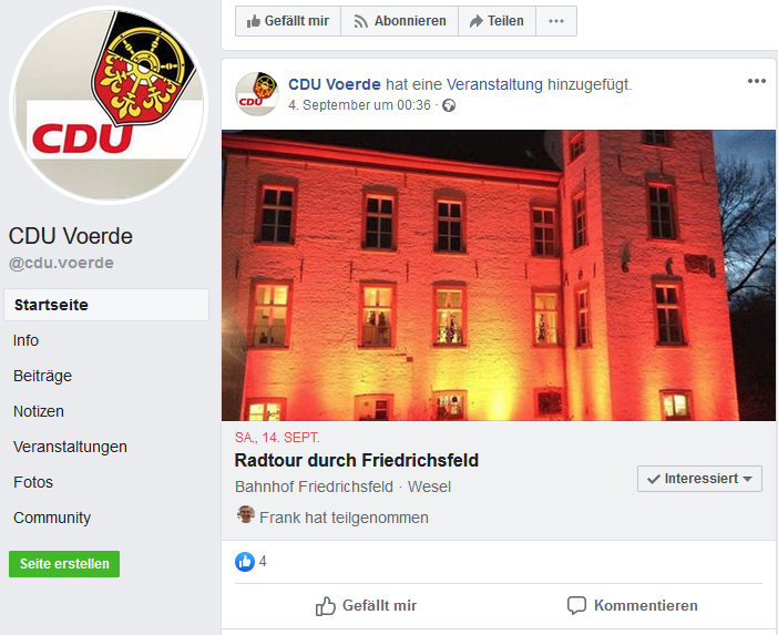 Screenshot CDU Facebook 14.09.19 19.09 Uhr
