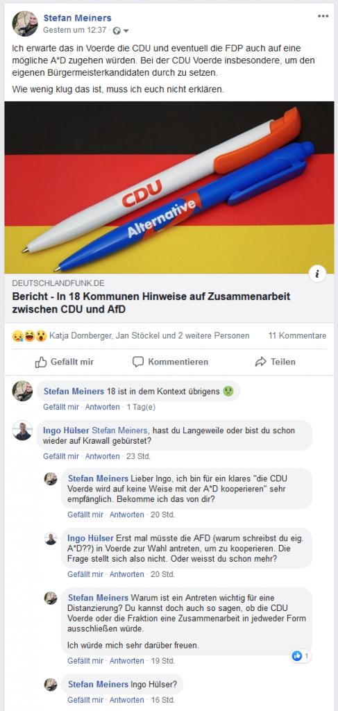 Screenshot Facebook 12.09.2019 14:30 Uhr