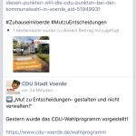 Screenshot der Änderung des Facebook-Beitrags