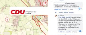 Screenshot der CDU-Facebookseite vom 11.08.2020